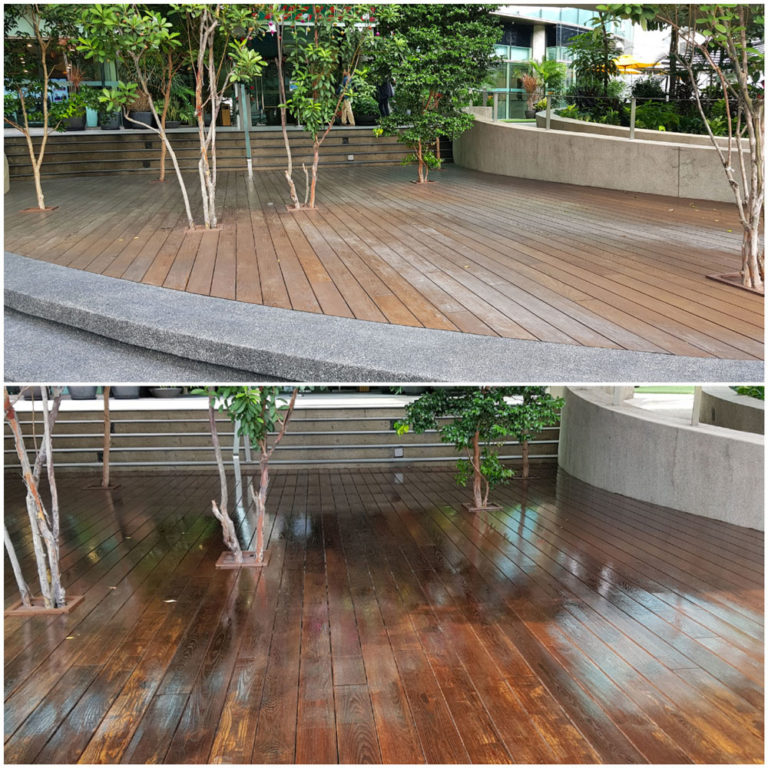 Wood Deck Varnish Coating